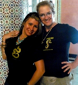 Asmahan poses with  Lynette in her GS tshirt
