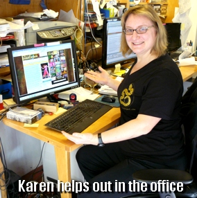 Karen in GS tshirt